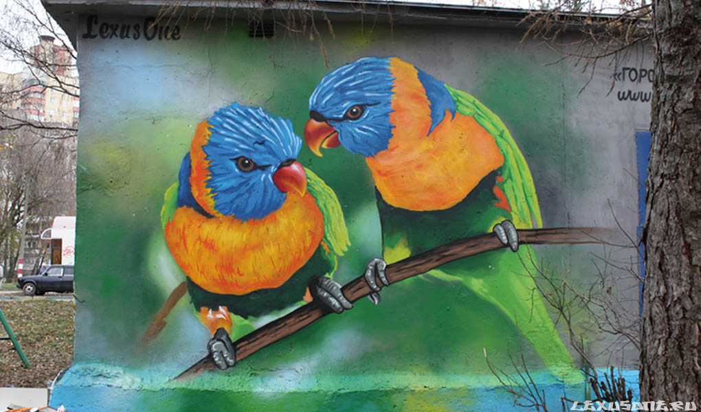 Граффити (стрит арт) на стене в Нижнем Новгороде 2012