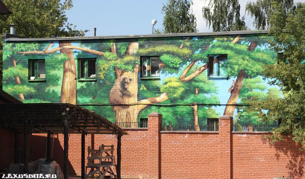 Граффити на фасаде Н.Новгород