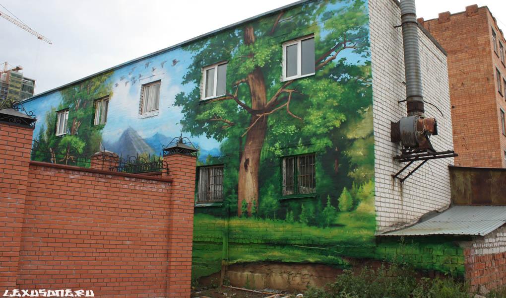 Граффити на фасаде дома 2013