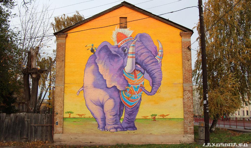 Граффити на улице Культуры