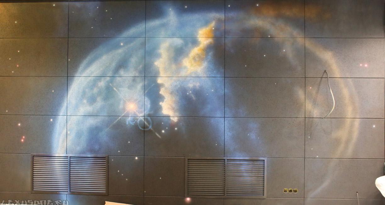 Аэрография на стене