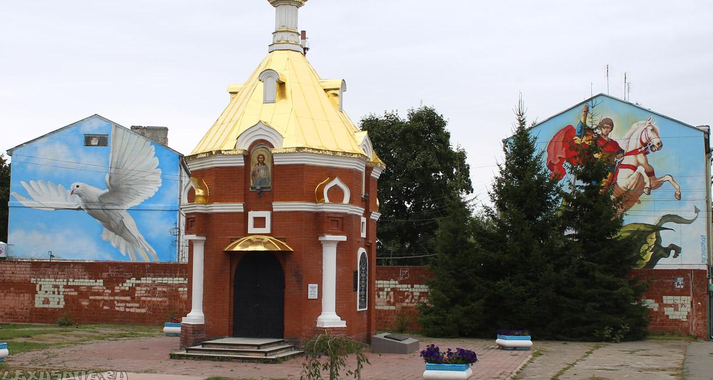 Граффити на фасаде в Нижнем Новгороде